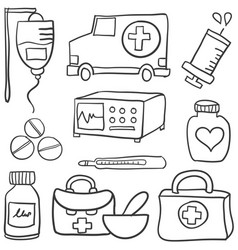 Doodle of medical health object vector