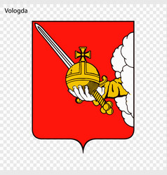 Emblem of vologda vector