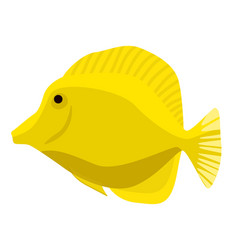 fish icon flat ocean or sea vector image