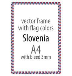 Flag v12 slovenia vector