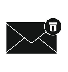 flat black mail letter icon vector image