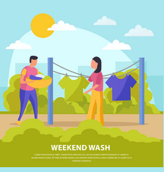 Flat colored lazy weekends people composition vector