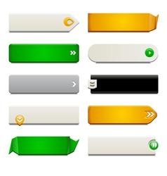 Flat Web Button Elements vector image