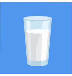 glass of milk delicious dairy product vector image