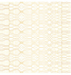 Golden geometric pattern on white background vector