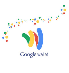 Google wallet abstract logo background vector