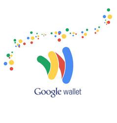 Google wallet abstract logo background vector