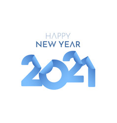 Happy new year 2021 paper number label tag vector