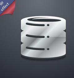 Hard disk icon symbol 3d style trendy modern vector