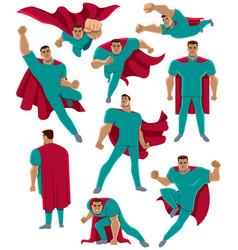 healthcare worker superhero vector image