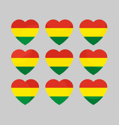 Heart with the flag of bolivia i love bolivia vector