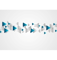 Hi-tech blue grey background with triangles vector