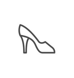 high heel shoe line icon vector image