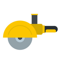 High speed cut off machine icon isolated vector
