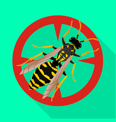 Insect wasp iconflat icon isolated vector