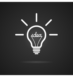 Inspiration bulb vector image