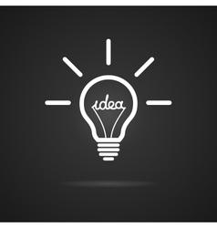 Inspiration bulb vector