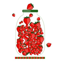 Jar with berry jam for your design vector image