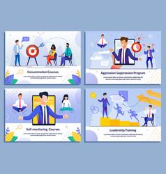 Leaders business training self-development set vector