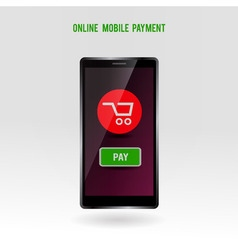 Mobile online payment service vector