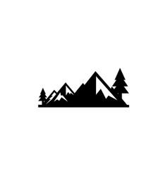 Mountain landscape outdoor peak adventure vector