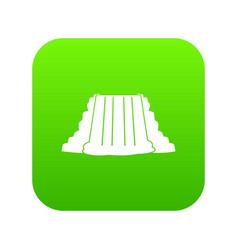 niagara falls icon digital green vector image