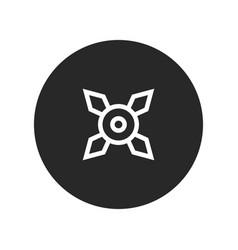 ninja shuriken icon vector image