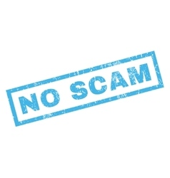 No Scam Rubber Stamp vector