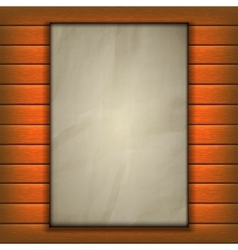 old sheet of paper page on wooden background vector image