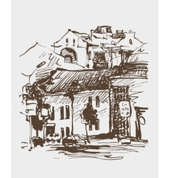 original digital sepia sketch of Kyiv Ukraine vector image