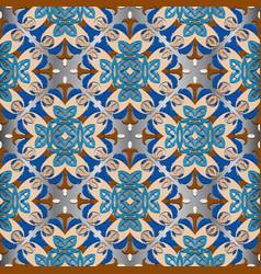 Ornamental floral seamless pattern damask vector