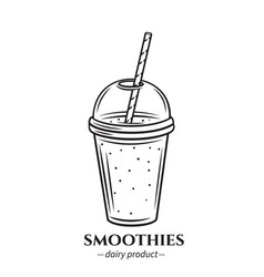 outline smoothies icon vector image