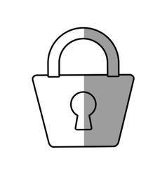 Padlock lock security protection symbol line vector
