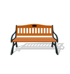 Park wood benches and steel design isolated vector