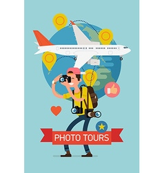 Photo Tour Poster vector image