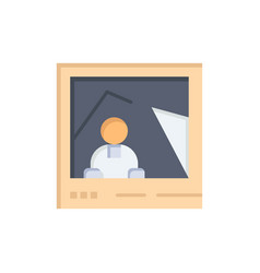 Picture image landmark photo flat color icon icon vector