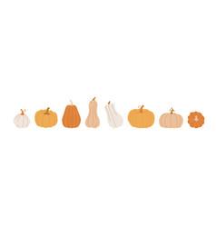 pumpkin set cute hand drawn pumpkins in various vector image