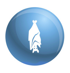 scary bat sleep icon simple style vector image