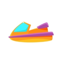Scooter Toy Boat vector