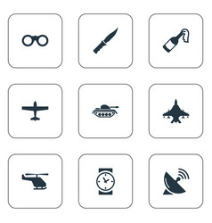 set of 9 simple terror icons can be found such vector image