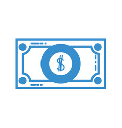silhouette bill cash money and economy finance vector image