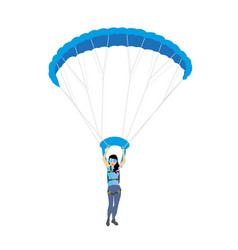 skydiver woman flying female character vector image