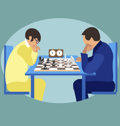 sports for smart chess players at competitions vector image