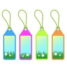 Spring tags vector
