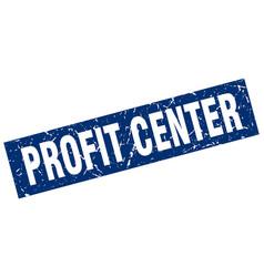 Square grunge blue profit center stamp vector