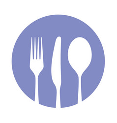 tableware symbol vector image