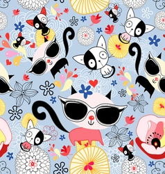 texture funny kittens vector image