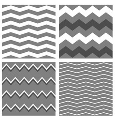 Tile pattern set with white grey and black zig za vector