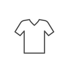 v-neck t-shirt line icon vector image