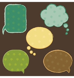 Vintage Speech Bubbles With Stars vector image